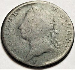 1782 George III Rules - HalfPenny Token,...