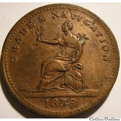 1838 One Stiver - Guyana