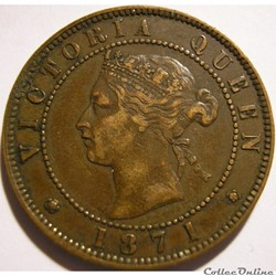 Victoria - One Cent 1871 - Prince Edward...