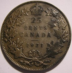 George V - 25 Cents 1921