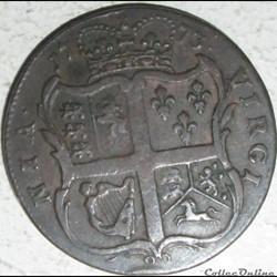 monnaie monde etat uni 1773 half penny george iii virginia