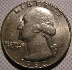 1982 D Quarter Dollar