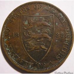 Victoria - 1/12 Shilling 1888 - Jersey (...