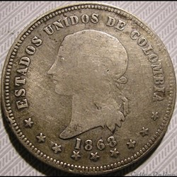 5 Decimos 1868 Bogota