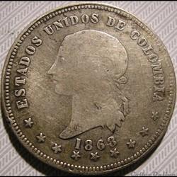 Colombia - 5 Decimos 1868 Bogotà