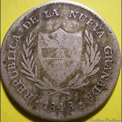 2 Reales 1848 Bogota - Nueva Granada