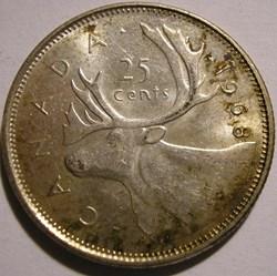 Elizabeth II - 25 Cents 1968