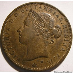 Victoria - 1/12 Shilling 1877 H - Jersey...
