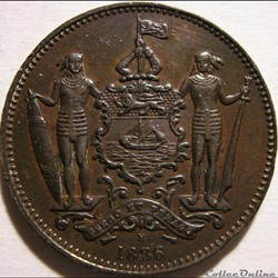 British North Borneo Co - One Cent 1886 ...