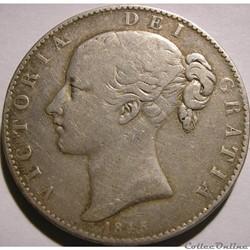 Victoria - Crown 1845 - Kingdom of Great Britain