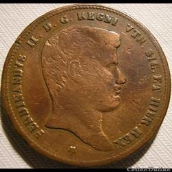 1833 Royaume de Naples, 10 Tornesi - Ferdinando II