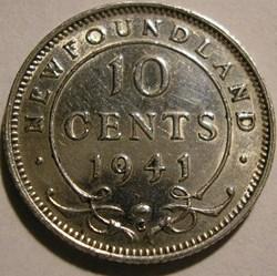 George VI - 10 Cents 1941C Newfoundland ...