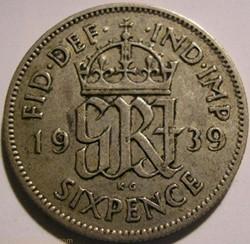 George VI - 6 Pence 1939 - Great Britain