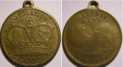 Edward VII & Alexandra - Medalet Barratt...