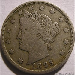 1893 5 Cents (ex.3)