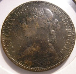 Victoria - One Farthing 1875 H - Kingdom...