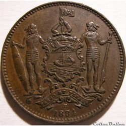 British North Borneo Co - One Cent 1884 - Borneo