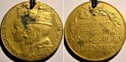 George V & Mary - 1911 Coronation Gilt M...