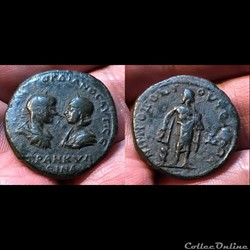 Thrace, Anchialus. Gordian III, with Tranquillina