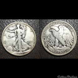1921P Walking Half Dollar