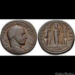 SYRIA, Coele-Syria. Heliopolis. Philip I