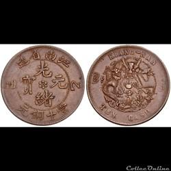 CHINA, Qīng dynasty. Dézōng (Guāngxù).