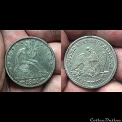 1854P Seated Liberty Half with Arrows
