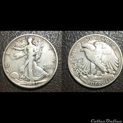 1921D Walking Half Dollar