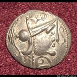 Denier d'argent scyphate dit à l'hippocampe - Ambiens - DT.188