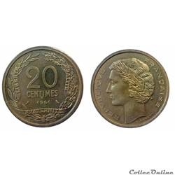 20 centimes 1961 ESSAI Robert