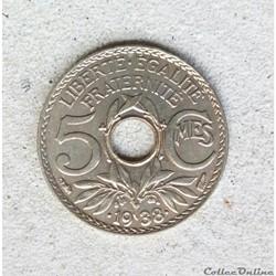 5 centimes 1938 étoile
