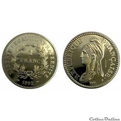 1 franc 1992 République ESSAI