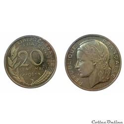 20 centimes 1961 ESSAI Dieudonné
