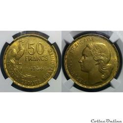 50 francs 1958 en MS64