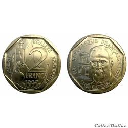 2 francs 1995 Louis Pasteur ESSAI