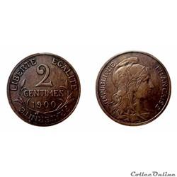 2 centimes 1900