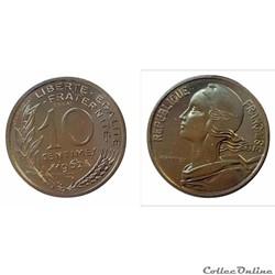 10 centimes 1962 ESSAI