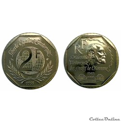 2 francs 1998 René Cassin ESSAI
