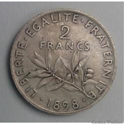 2 francs 1898 flan mat