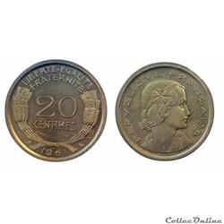 20 centimes 1961 ESSAI Cochet