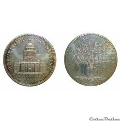 100 francs Panthéon 1991