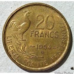 20 francs 1954 B