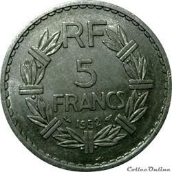 5 francs 1952