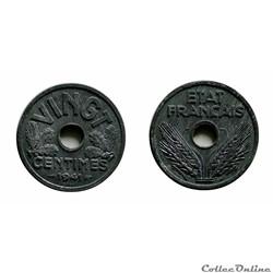 20 centimes 1941 type VINGT ESSAI