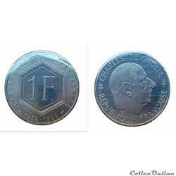 1 franc 1988 Général De Gaulle ESSAI