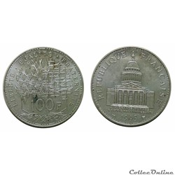 100 francs Panthéon 1995