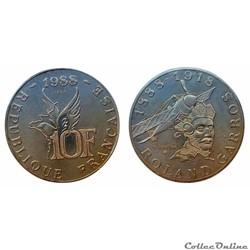 10 francs 1988 Roland Garros B ESSAI