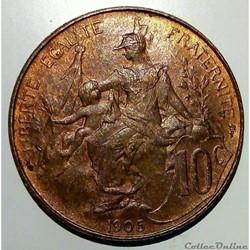 10 centimes 1905
