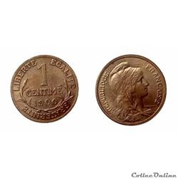 1 centime 1900