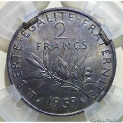 2 francs 1959 ESSAI